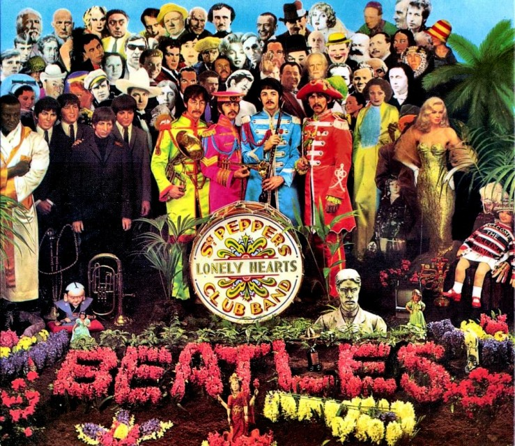 Image result for sgt pepper's lonely hearts club band album cover